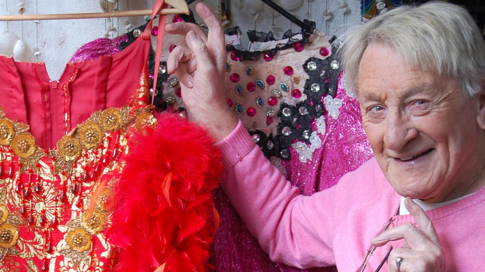 David Raven, otherwise known as drag artist Maisie Trollette, has donated outfits to the Brighton exhibition