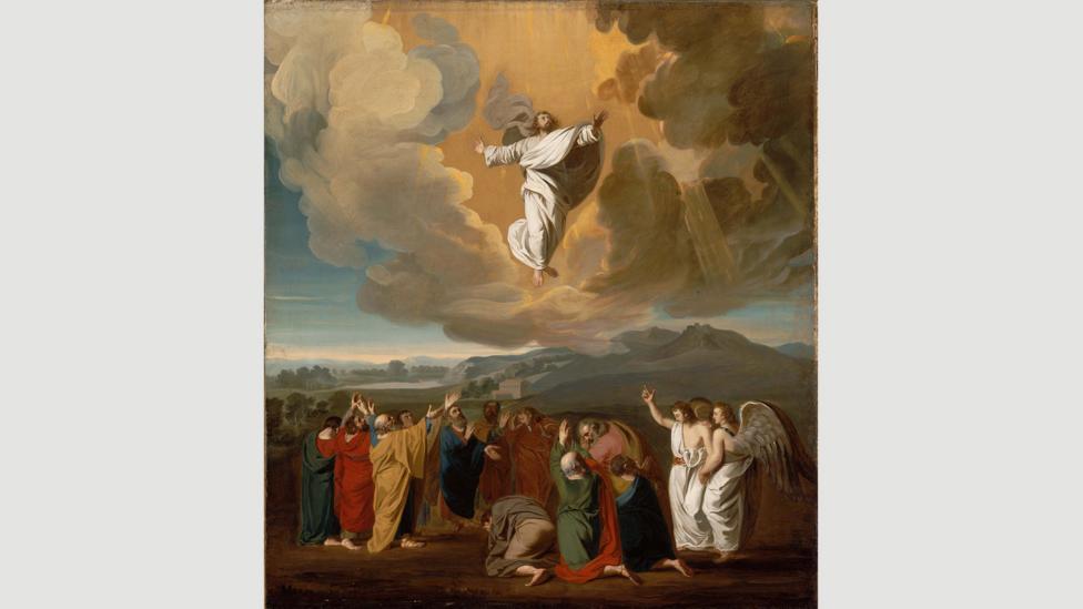 Jesus' ascension to heaven byJohn Singleton Copley, 1775 (Credit: Museum of Fine Arts Boston)