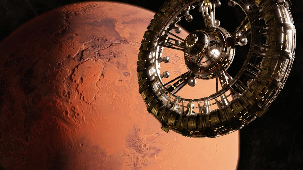 Giant space station near Mars (Credit: Alamy)