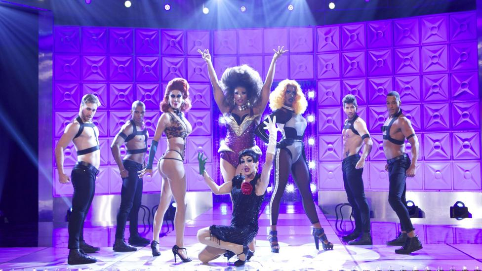 The language of house balls has entered the mainstream via social media and prime-time TV successes like RuPaul's Drag Race, pictured (Credit: Alamy)