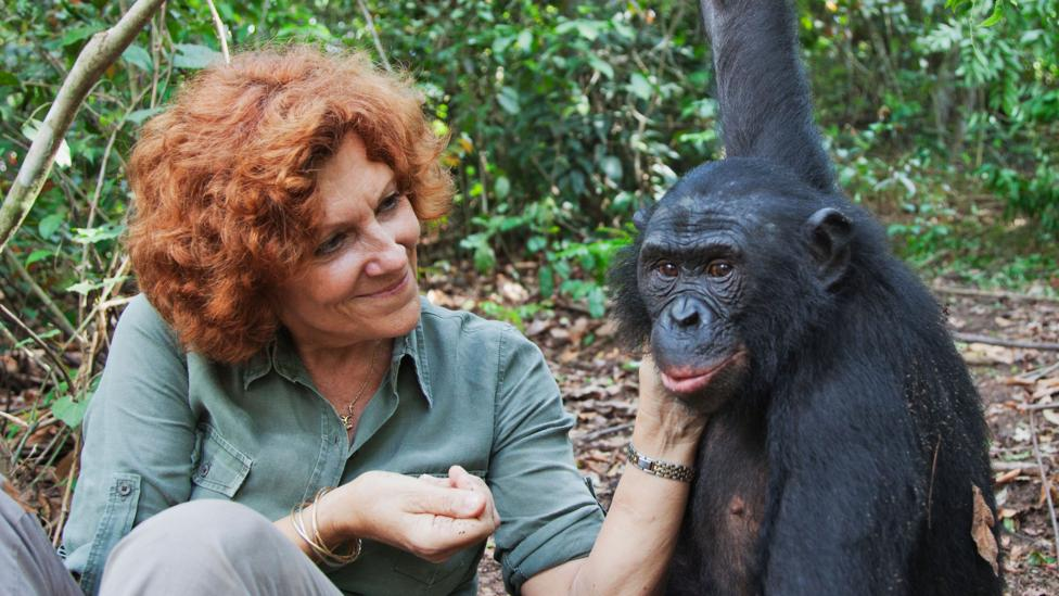 Claudine Andre founder of a sanctuary for bonobos in the Democratic Republic of the Congo (Credit: Alamy)