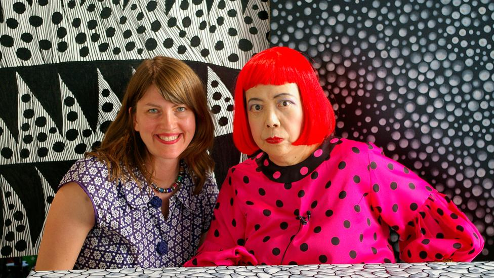 Heather Lenz – shown here with Kusama – is the director of a new documentary about the artist (Credit: Tokyo Lee Productions)