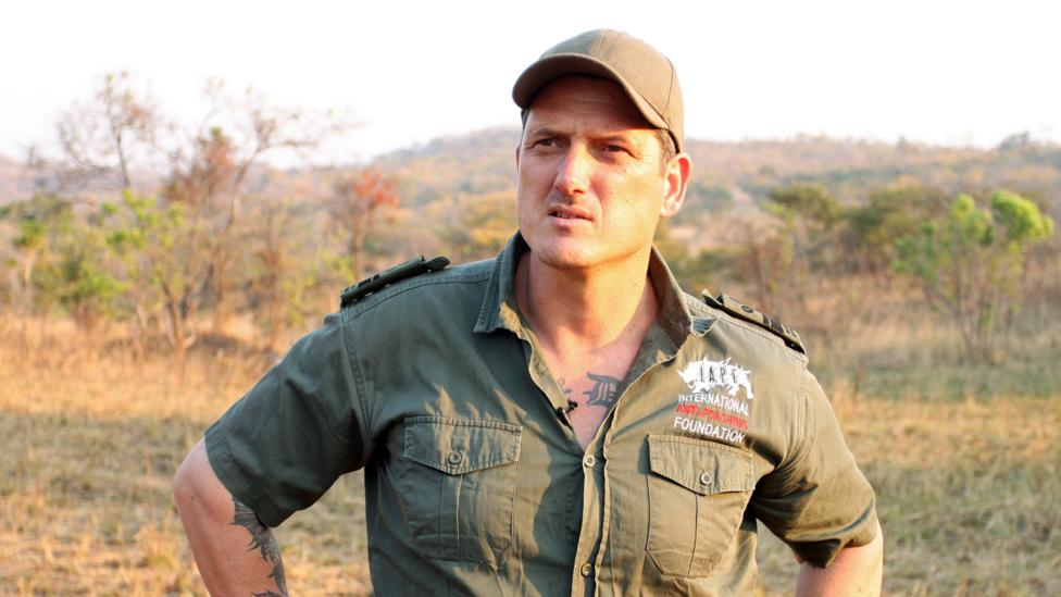 A former Special Forces sniper, Mander says he found his 'higher calling' protecting wildlife in Africa (Credit: Rachel Nuwer)