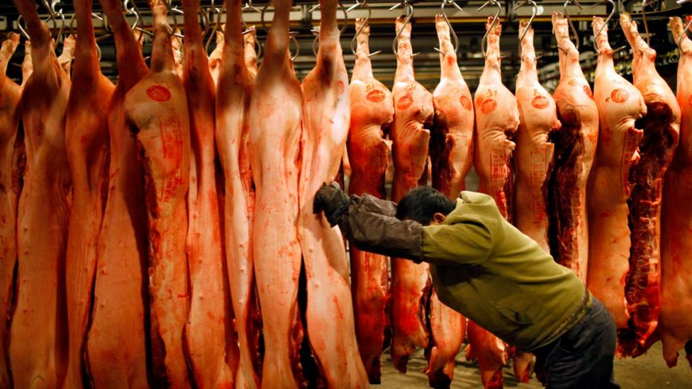 ..while a striking image like this, which shows high-emissions meat production at scale, was more effective (Credit: Qilai Shen/Panos Pictures)