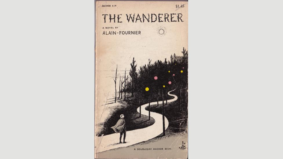 The Wanderer by Alain-Fournier, cover design and illustration by Edward Gorey (Credit: Doubleday Anchor Books, 1953)