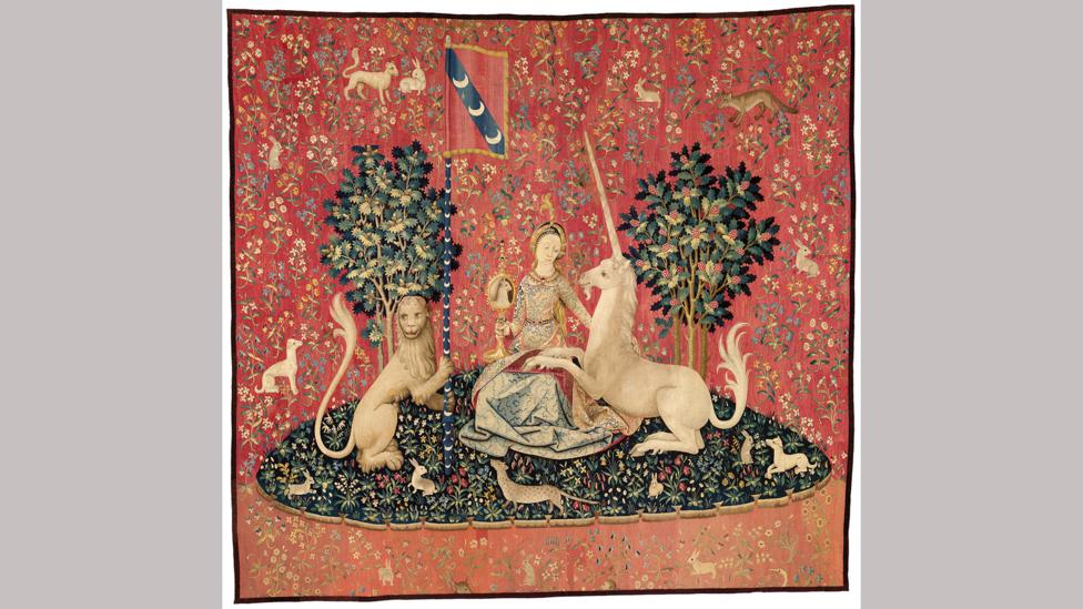 The Lady and the Unicorn tapestries were rediscovered in the 19th Century (Credit: RMN-Grand Palais (Musée de Cluny - Musée National du Moyen Âge) / M Urtado)