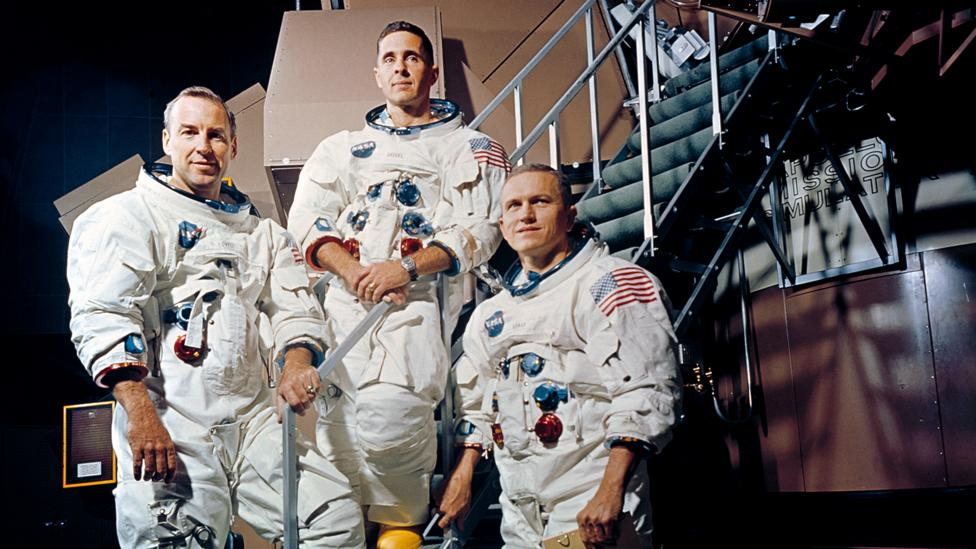 The Apollo 8 crew struggled with writing a speech that would have the biggest audience in history (Credit: Nasa)