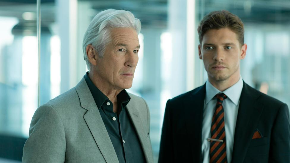 Richard Gere in his first major TV role, alongside Billy Howle in MotherFatherSon (Credit: BBC Two)