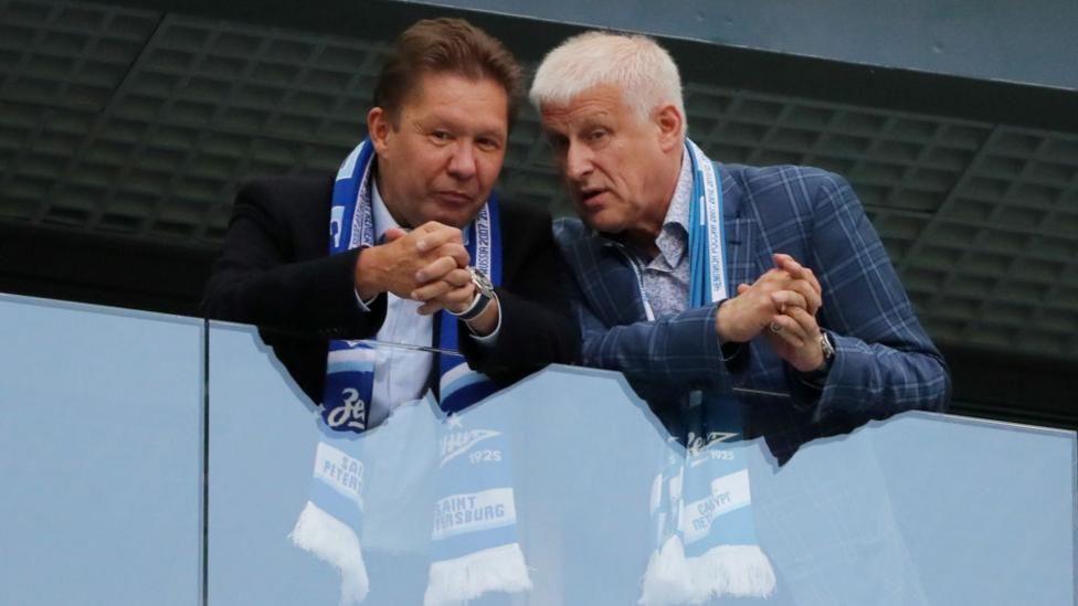 Gazprom's CEO, Alexei Miller (left), is Russia's highest-paid executive (Credit: Getty Images)
