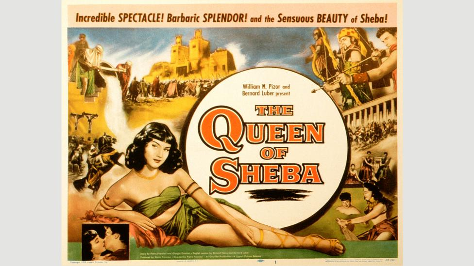 A US poster for the 1952 film The Queen of Sheba (Credit: Alamy)