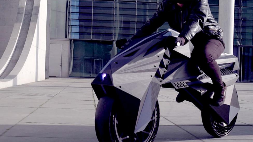 The world's first 3D-printed electric motorbike