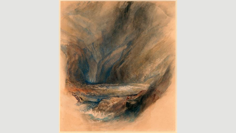 Ruskin after Turner, from the Pass to St Gotthard 1855 – An admirer of Turner, Ruskin was an artist in his own right (Credit: Guild of St George/Museums Sheffield)