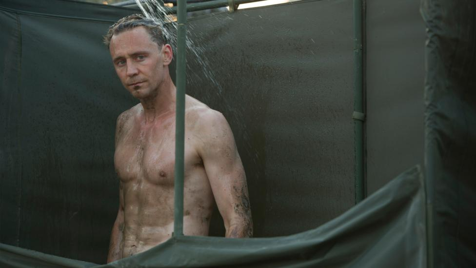 Tom Hiddleston's bare bottom was edited out of the US version of The Night Manager (Credit: BBC)