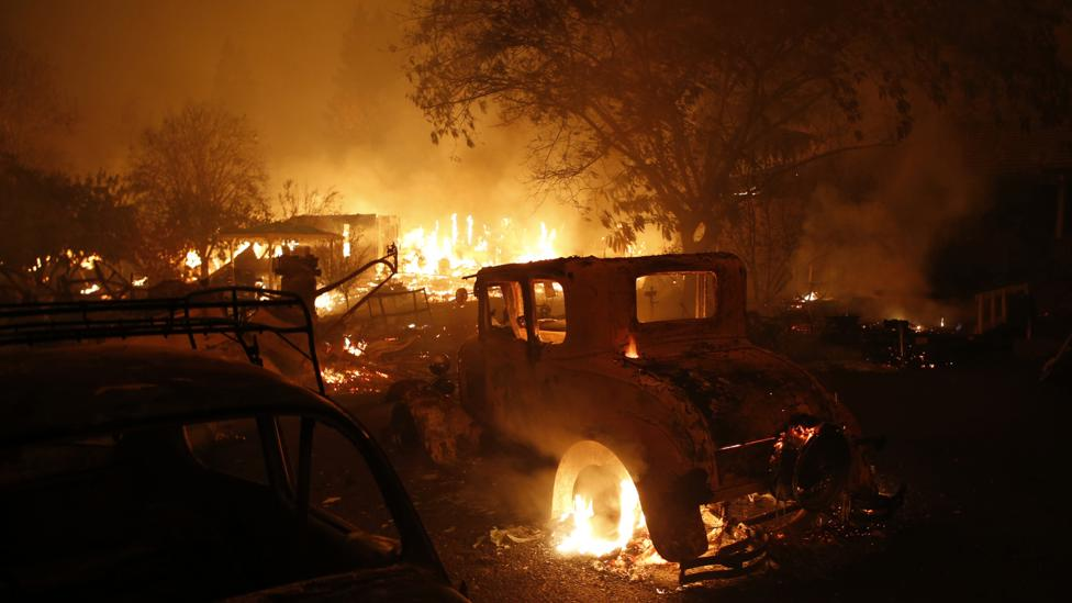 Shifting winds, different types of vegetation and rainfall patterns can make it difficult to predict the paths that wildfires will take (Credit: Getty Images)