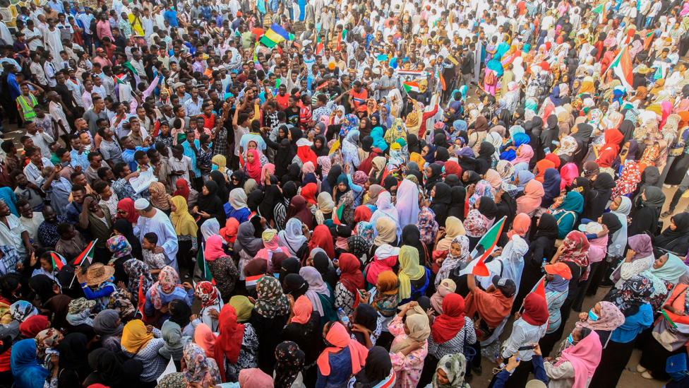 Protestors in Sudan (Credit: Getty Images)
