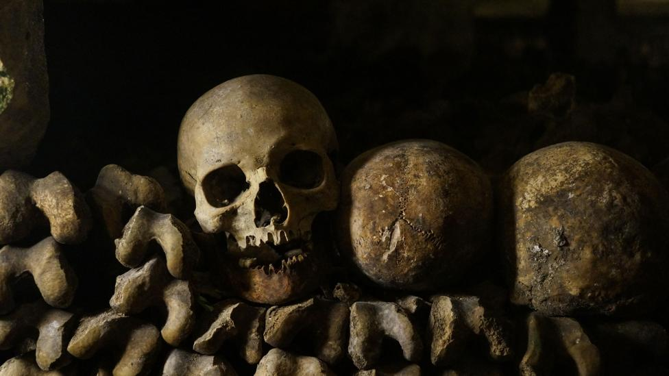 Each skeleton tells the story of its owner's life (Credit: Alamy)