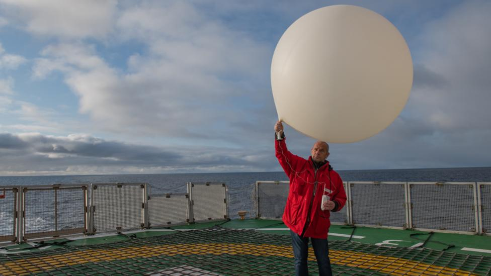 Daily measurements will be taken on, above and below the ice to build up a better picture of how the Arctic is responding to climate change (Credit: AWI/Esther Horvath)