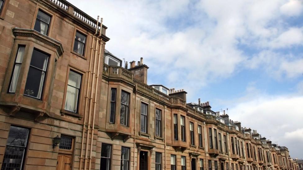 Victorian tenement flats in Glasgow