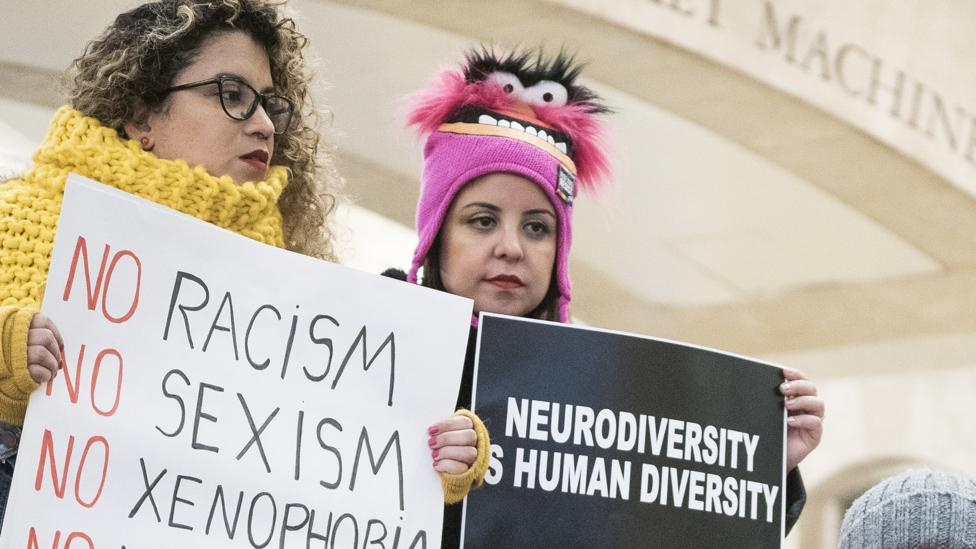 Demonstraters in New York in January participating in the Non-March for Disabled Women (Credit: Getty Images)