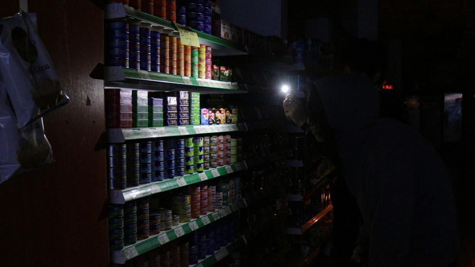 Blackout in supermarket, Buenos Aires