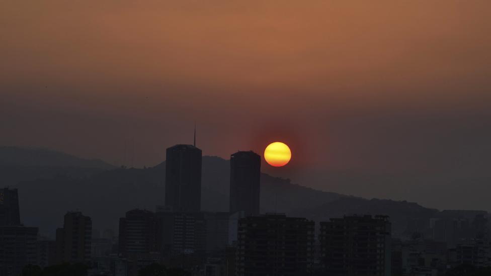 Sunset during a power cut in Venezuela