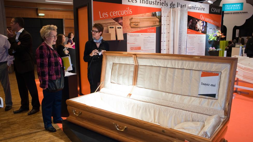 French coffin exhibition