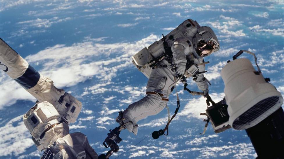 ISS astronaut on spacewalk (Credit: Nasa)