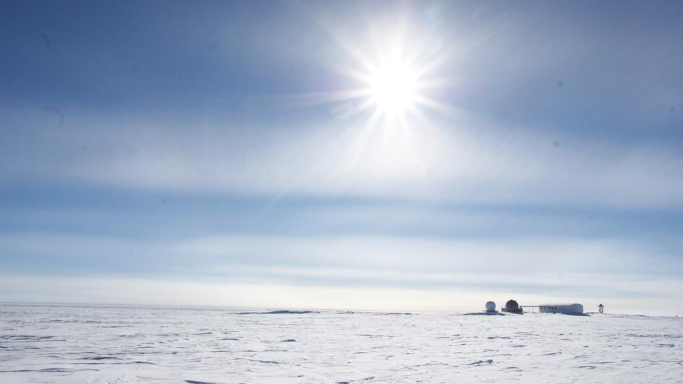 Polar base and snow (Credit: Esa)