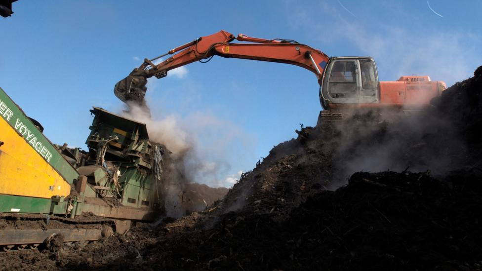 Compostable waste recycling plant in Suffolk, UK (Credit: Getty Images)