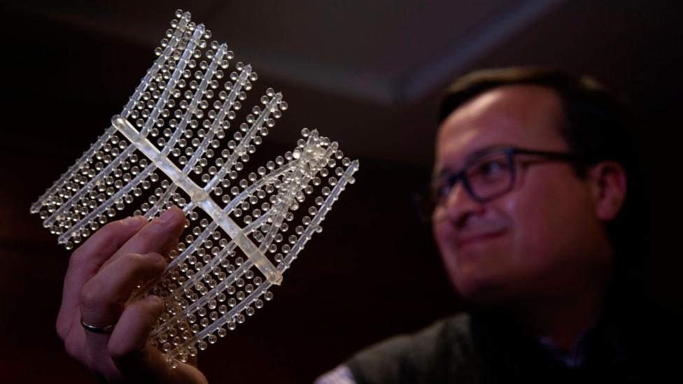 A biomaterial that engineers say dissolves upon contact with water (Credit: Getty Images)