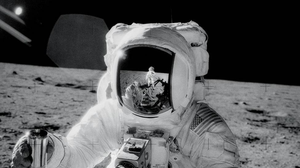 Apollo 12 astronaut on Moon (Credit: Nasa)