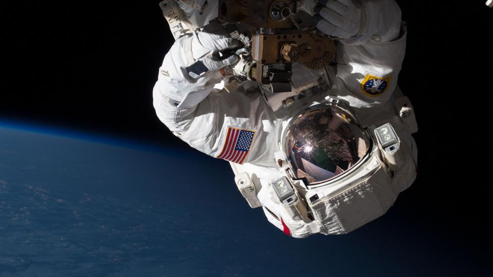 Nasa astronaut on spacewalk (Credit: Nasa)