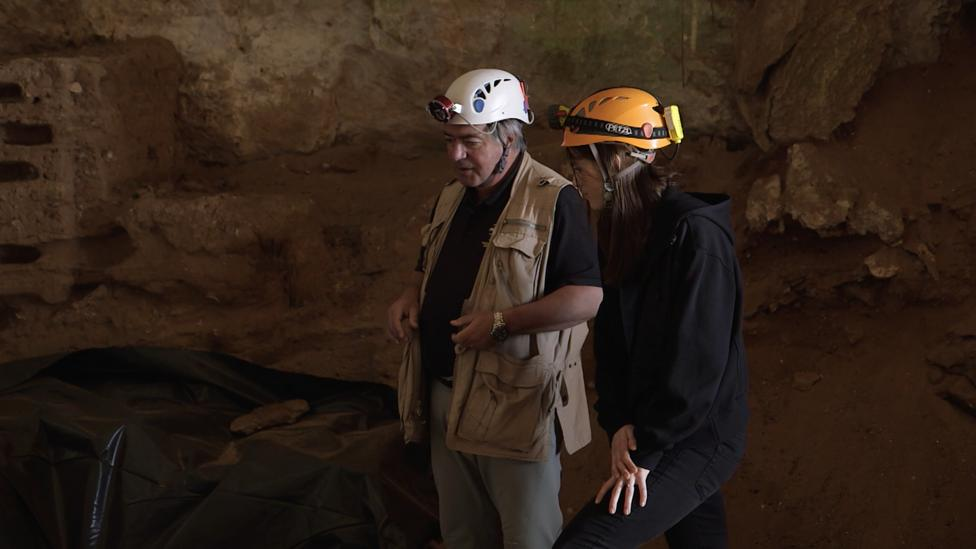 Clive Finlayson says Neanderthals could have thrived in Gorham's cave (Credit: BBC Earth)