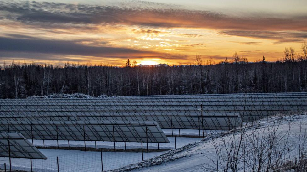 Solar farms close to the Arctic Circle have become viable with advances in solar technology and decreasing costs of panels (Credit: Fischer Knapp)