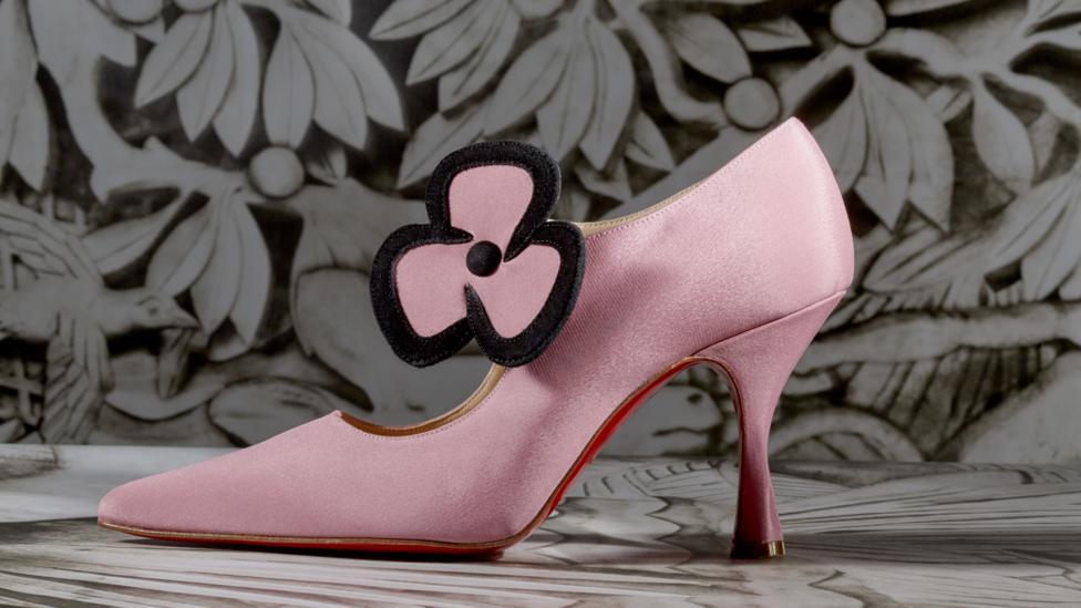 Louboutin's 1992 Pensée shoe is a cute, cartoony homage to Warhol's 1960s Flowers paintings