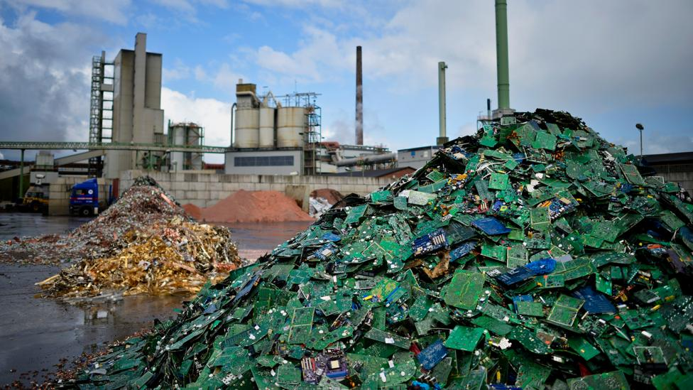 Europe creates huge piles of electronic waste that contain enough metals to make new devices purchased by its citizens (Credit: Getty Images)