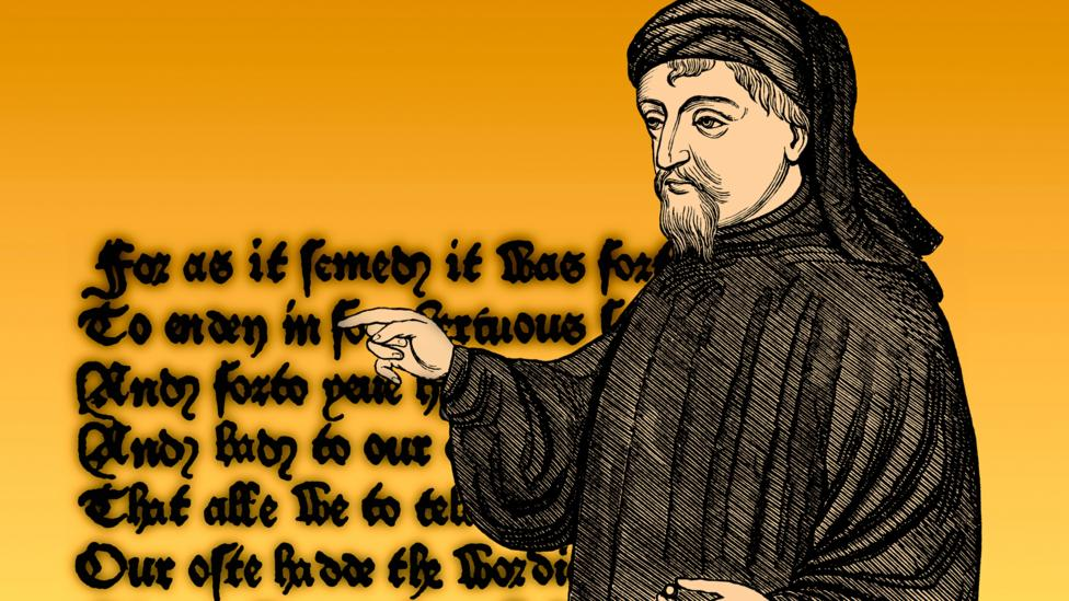 Chaucer's irreverent Canterbury Tales is set against a backdrop of the Black Death