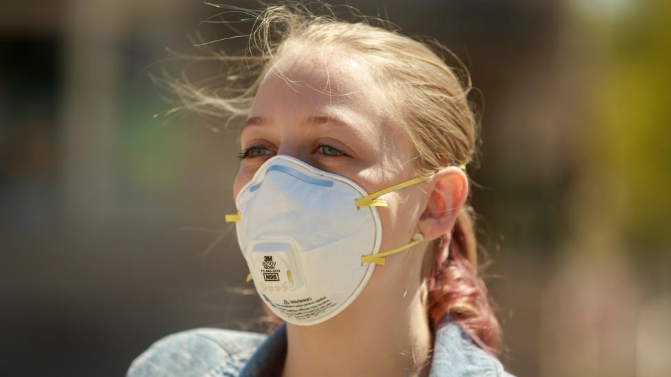 While the N95 respirator mask offers a high level of protection, most health officials believe it should be prioritised for frontline health workers (Credit: Getty Images)