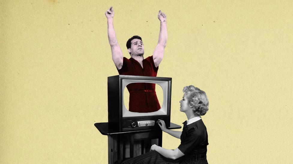 Starting in the 1950s, home fitness was originally a pastime geared toward housewives as part of a beauty routine (Credit: Alamy/BBC)