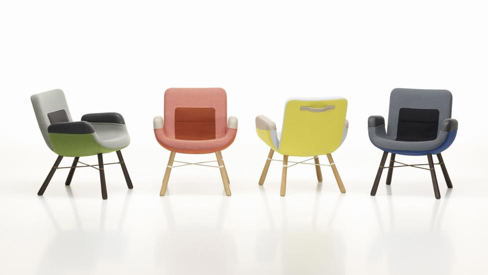 The hues of Jongerius's East River Chair designs for Vitra are experimental (Credit: Marc Eggimann)