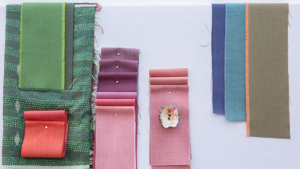 Italian colourist Giulio Ridolfo creates colour combinations for fabric company Kvadrat (Credit: Howard Sooley)