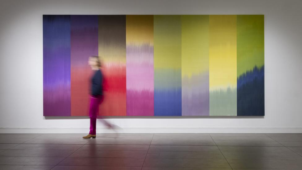 Ptolemy Mann's artworks in woven textiles explore unusual colour combinations (Credit: Ruth Ward)