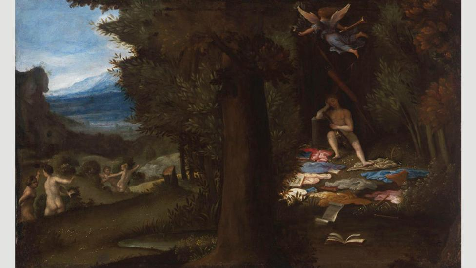 Sleeping Apollo by Lorenzo Lotto (1549) suggests the uninhibited creativity that dreams could unleash