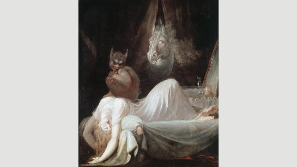 The Nightmare (1781) by Henry Fuseli is one of the most famous depictions of a dream – it continues to defy interpretation