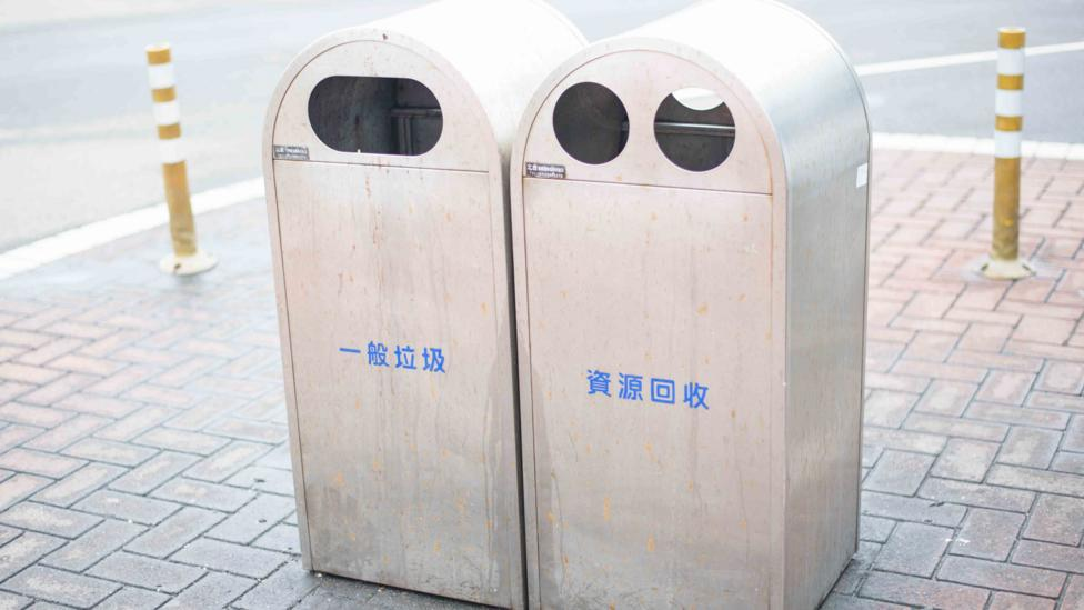 Bins can still be spotted on the streets of Taipei, but there are many fewer than there once were (Credit: Getty Images)
