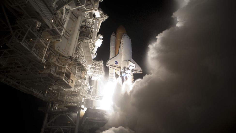 Space Shuttle launching (Credit: Nasa)