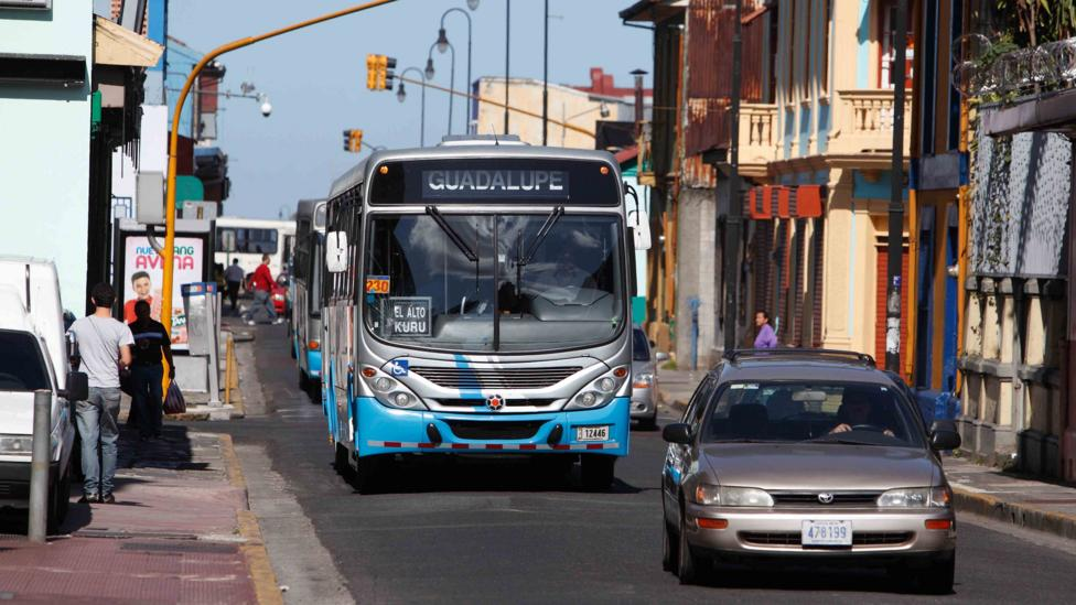 The public bus service in Costa Rica leaves a lot to be desired, but the gradual introduction of bus lanes in San Jose is gradually improving it (Credit: Alamy)