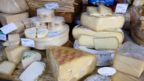 File photo of cheeses on display