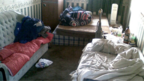 Bedroom used for modern slavery (generic)