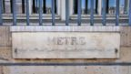 A standard metre bar below the window of the Ministry of Justice in Paris